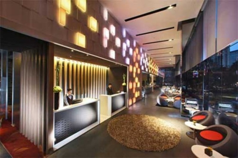 Modern hotel lobby interior and lighting decoration design