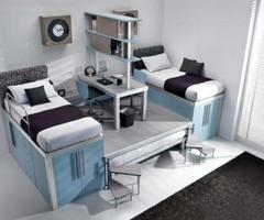 Modern Bedroom Ideas With Colorfull Teenage Loft By Italian Company Tumidei