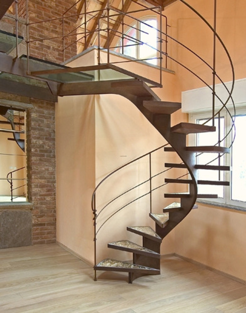 Beautiful spiral staircase by bonansea modern staircase Curved staircase design plans