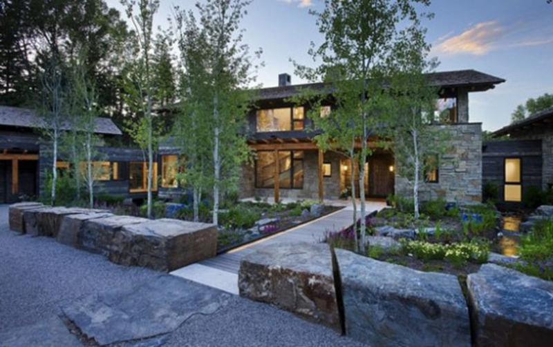 Rustic And Stone Home Design In Wilson Wyoming That Is