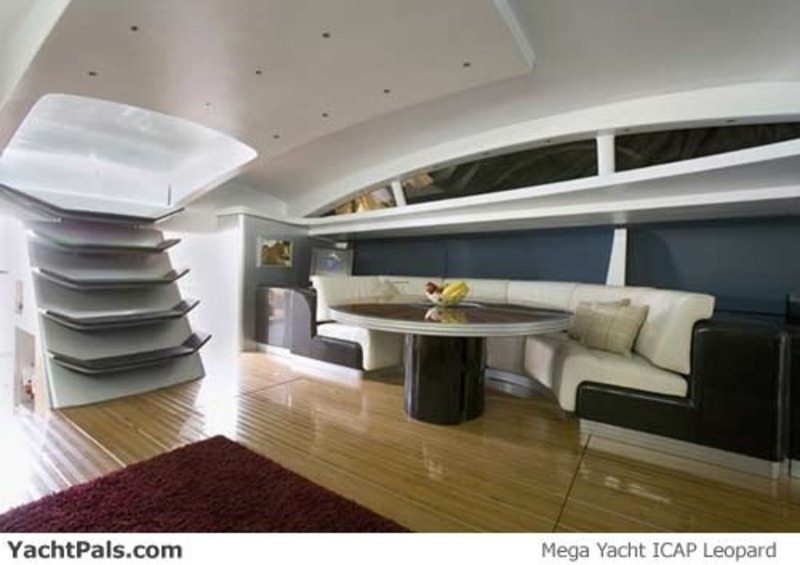 Luxurious interior yacht design with modern sofa by fun for Boat interior design ideas home