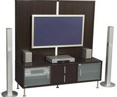 Brown Wooden Wall Mounted Modern Tv Cabinets