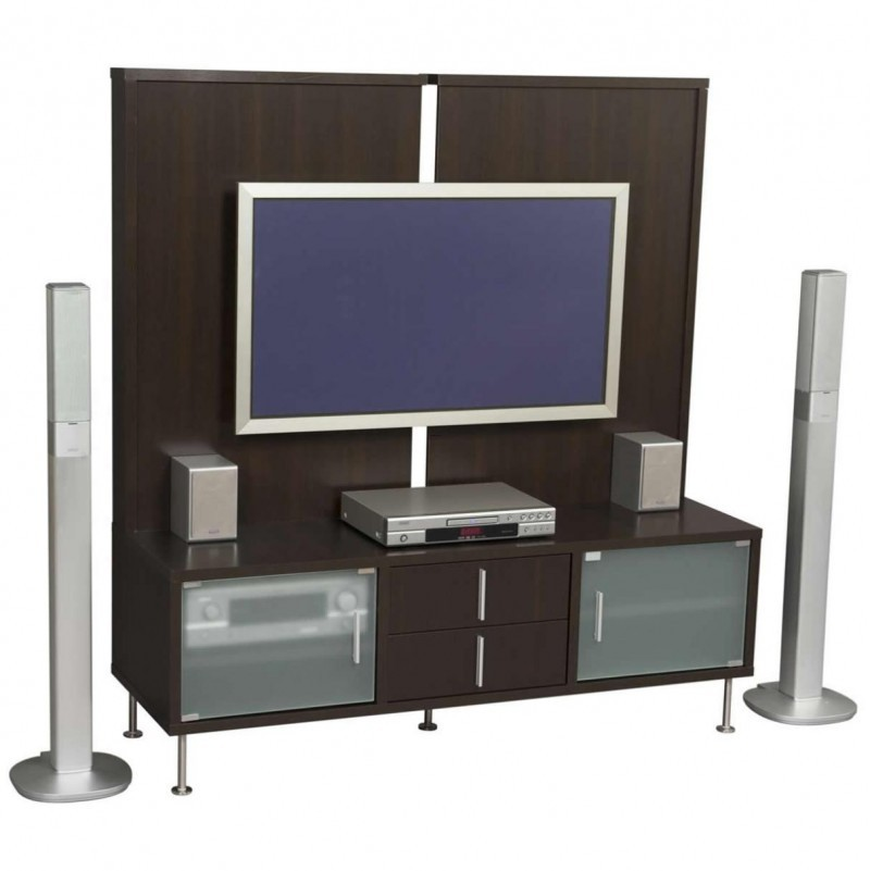 Brown Wooden Wall Mounted Modern Tv Cabinets Design