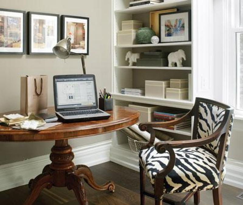 Small home office design design bookmark 10493 for Home office makeover ideas