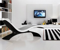 Lounge Chair Furniture Product Made Of Carbon Fiber