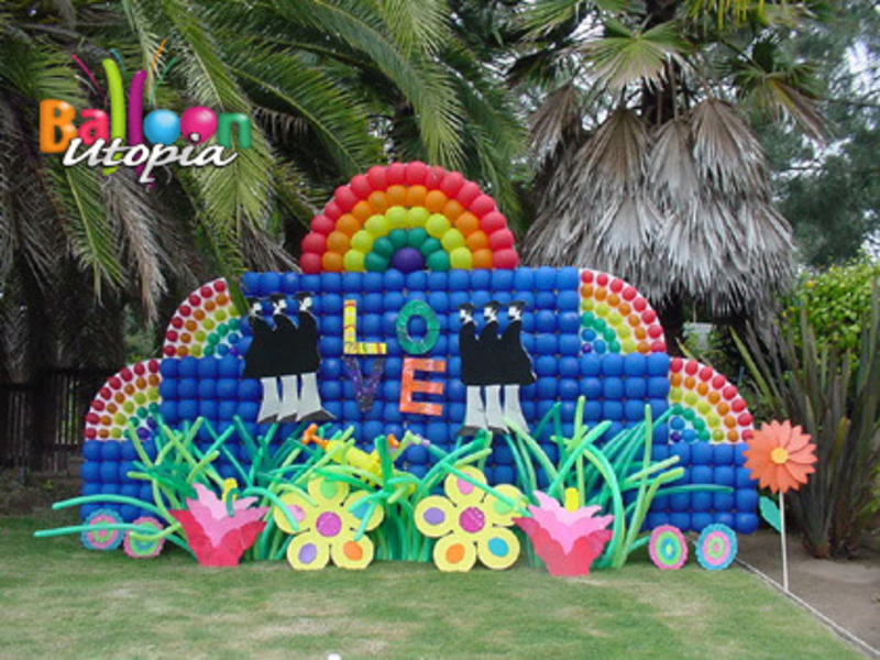 San diego birthday party decorations by balloon utopia for Balloon decoration for kids birthday party
