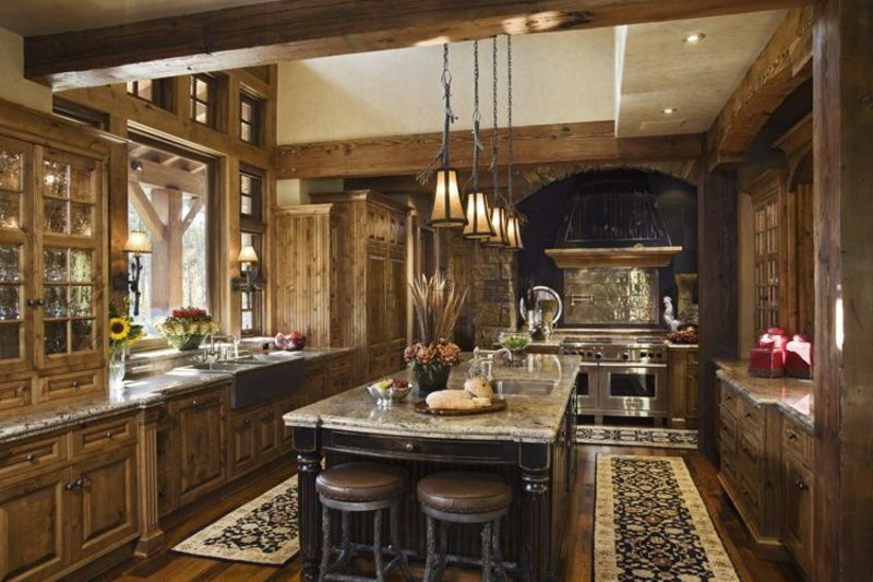 Rustic And Traditional House Exterior Interior Decorating Layout ...