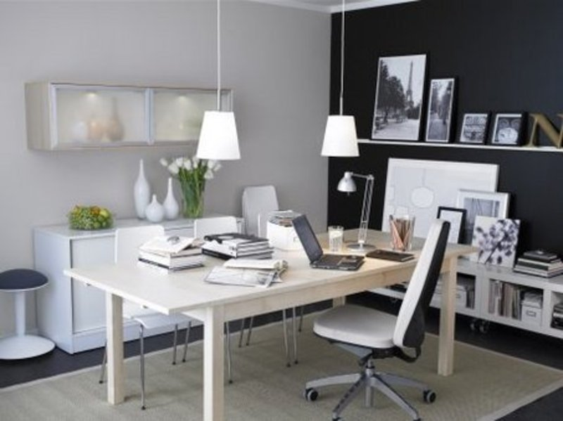Home office decoration furniture make your working is fun for Office decoration pics