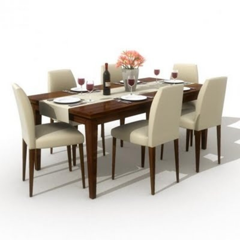 Modern dining furniture table design bookmark 10750 for Modern dining table decor