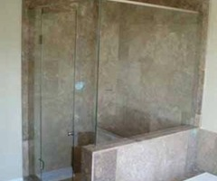 Frameless Shower Enclosures, Frameless Shower Doors, Clear Glass Shower 