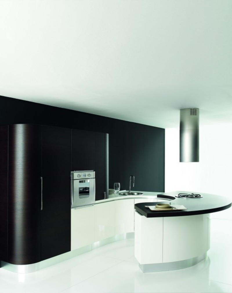 Black White Kitchen Cabinets,   Black And White Rounded Kitchen Cabinets On Kitchen Design – Home Interiors
