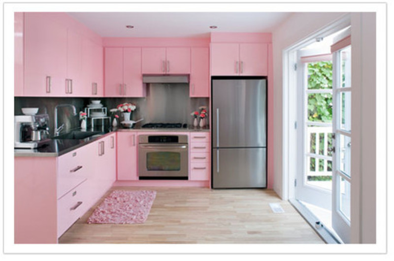 Pink Kitchen Cabinets, Atomic Pink Vintage Kitchen ? Retro
