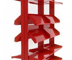 Modular Shelves System Built From Steel And Recyclable Materials