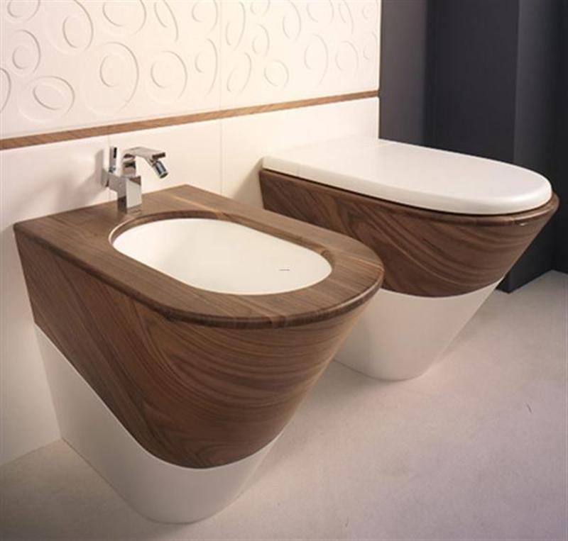 Unique toilet seat contemporary and stylish wooden for Toilet bathroom design