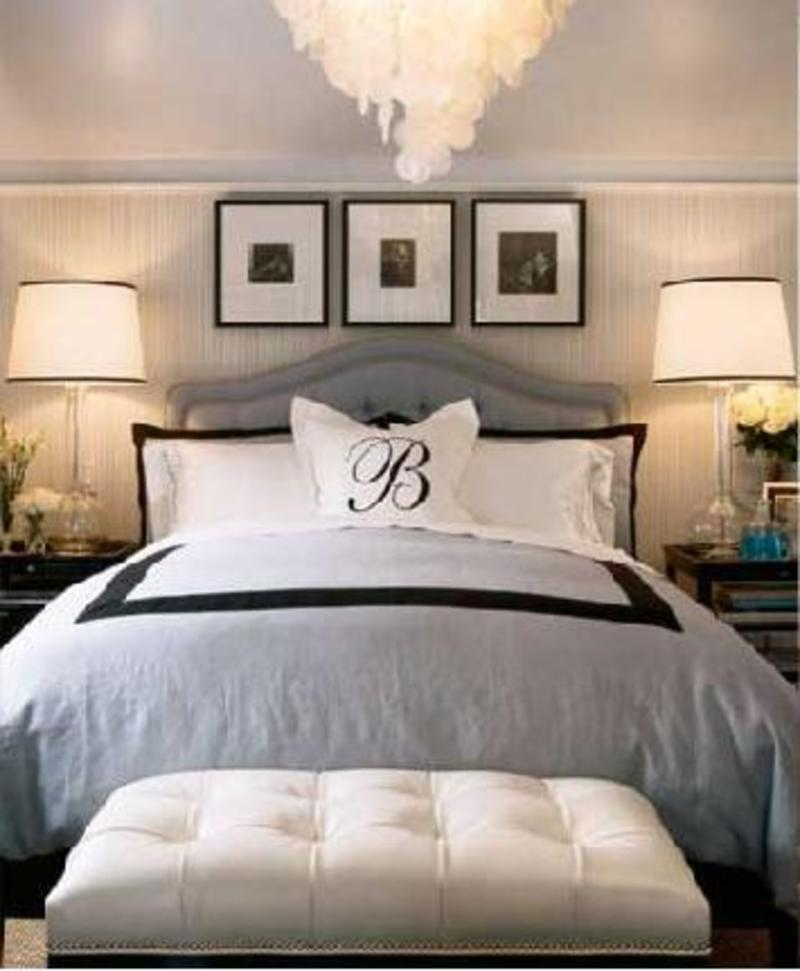 Modern home interior design black and white and blue bedroom that is great