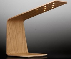 Tunto Led Desk Lamp Infuses Wood With Light