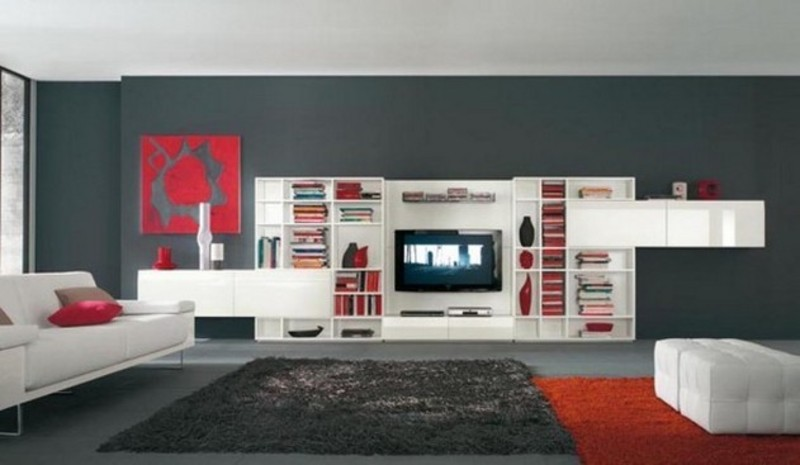 Decorating Ideas > Innovative White Red Black Tv Wall Mount For Modern Living  ~ 215434_Living Room Decorating Ideas Wall Mount Tv