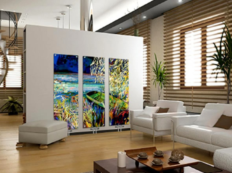 Home interior decorating contemporary art glass radiators tmf amazing giverny flooring room - Awesome home interiors decorations in modern setting ...