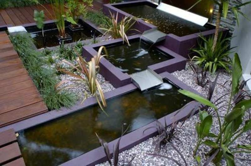Modern minimalist garden design ideas for limited space for Contemporary koi pond design