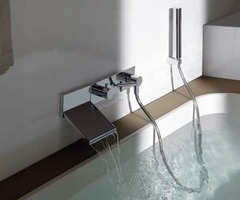 Modern Wall Mount Waterfall Faucet For Stylish Bathroom By Zucchetti