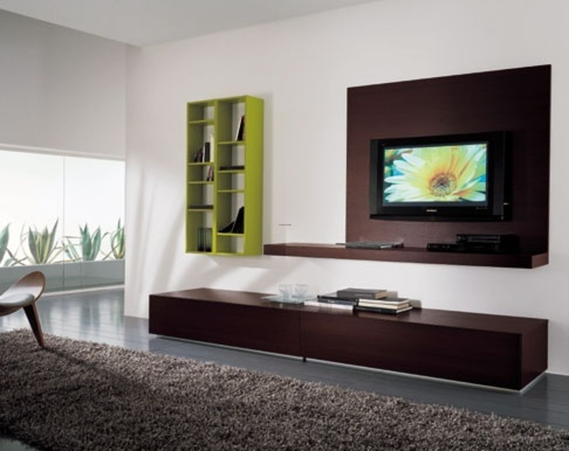 Modern wall mount tv stand perfect inspiration for your - Hanging tv on wall ideas ...