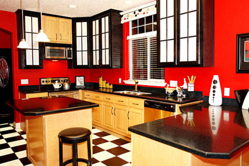 Red kitchen ideas design bookmark 11289 - Black red and white kitchen designs ...