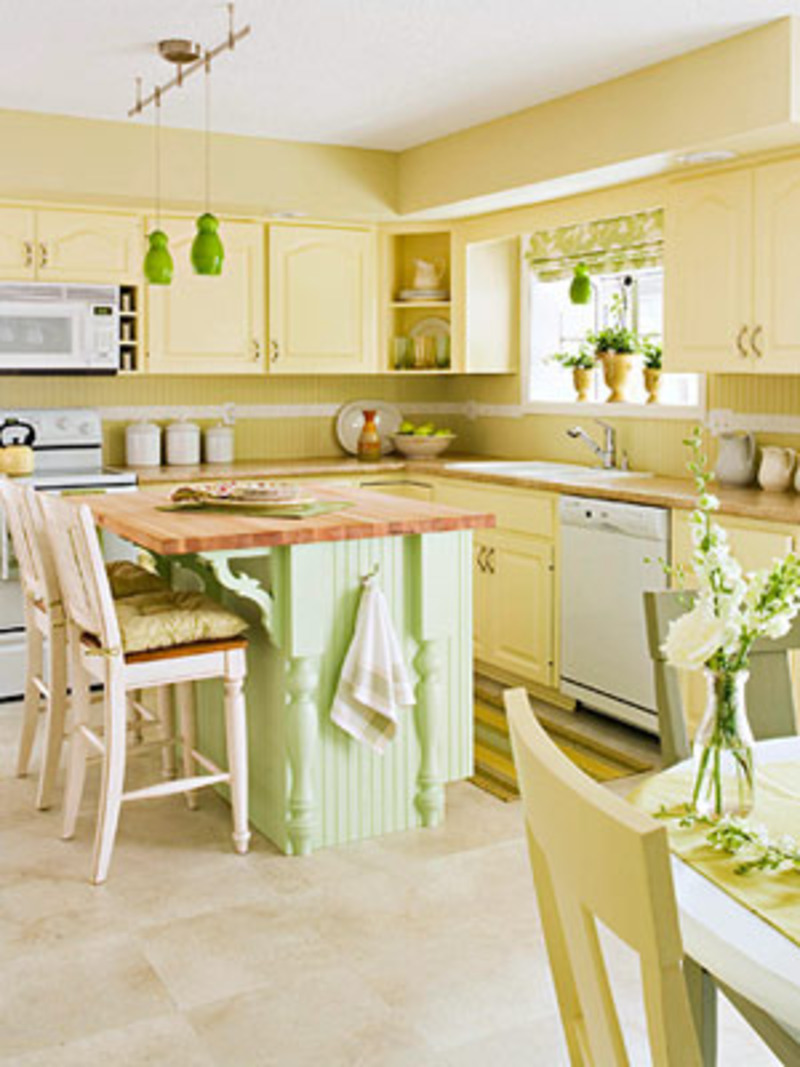 Yellow Kitchen Cabinets, Yellow Kitchen Ideas