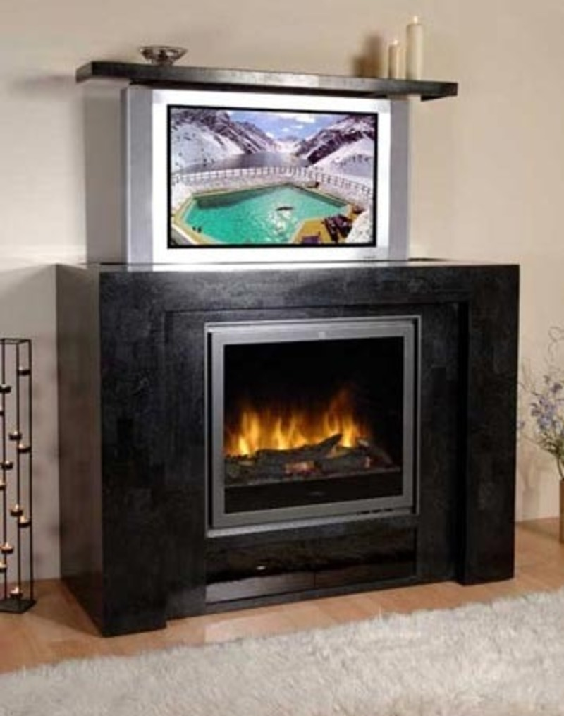 Hide your flat screen tv in your fireplace design Hide fireplace ideas