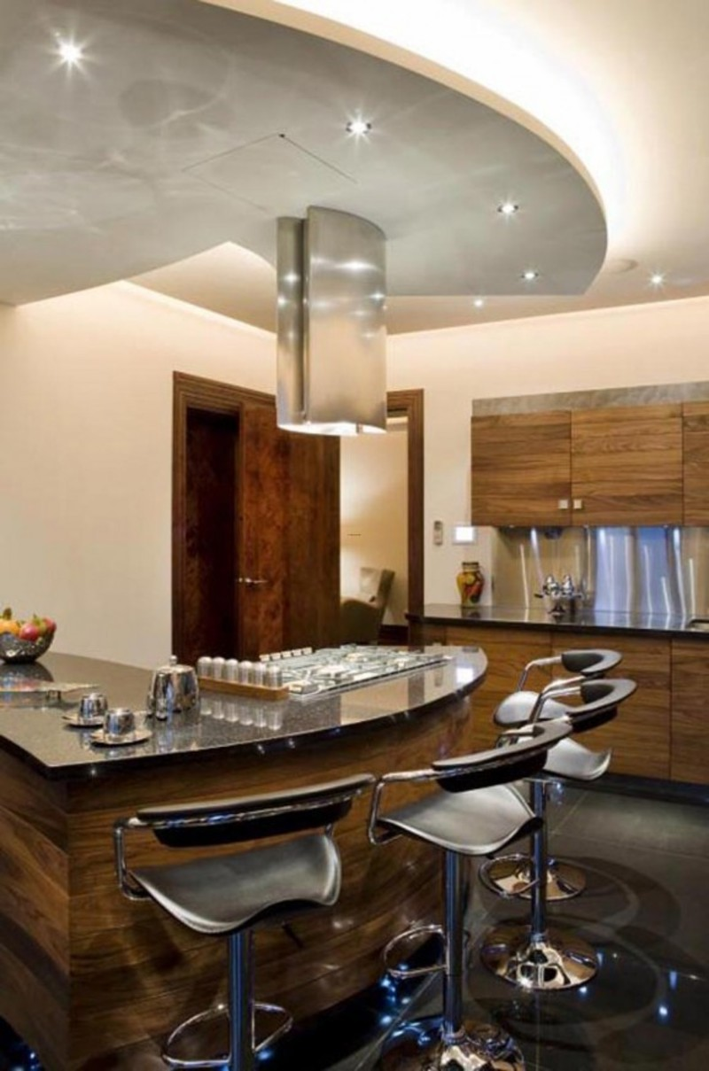 apartments modern minmalist interiors apartment kitchen bar design