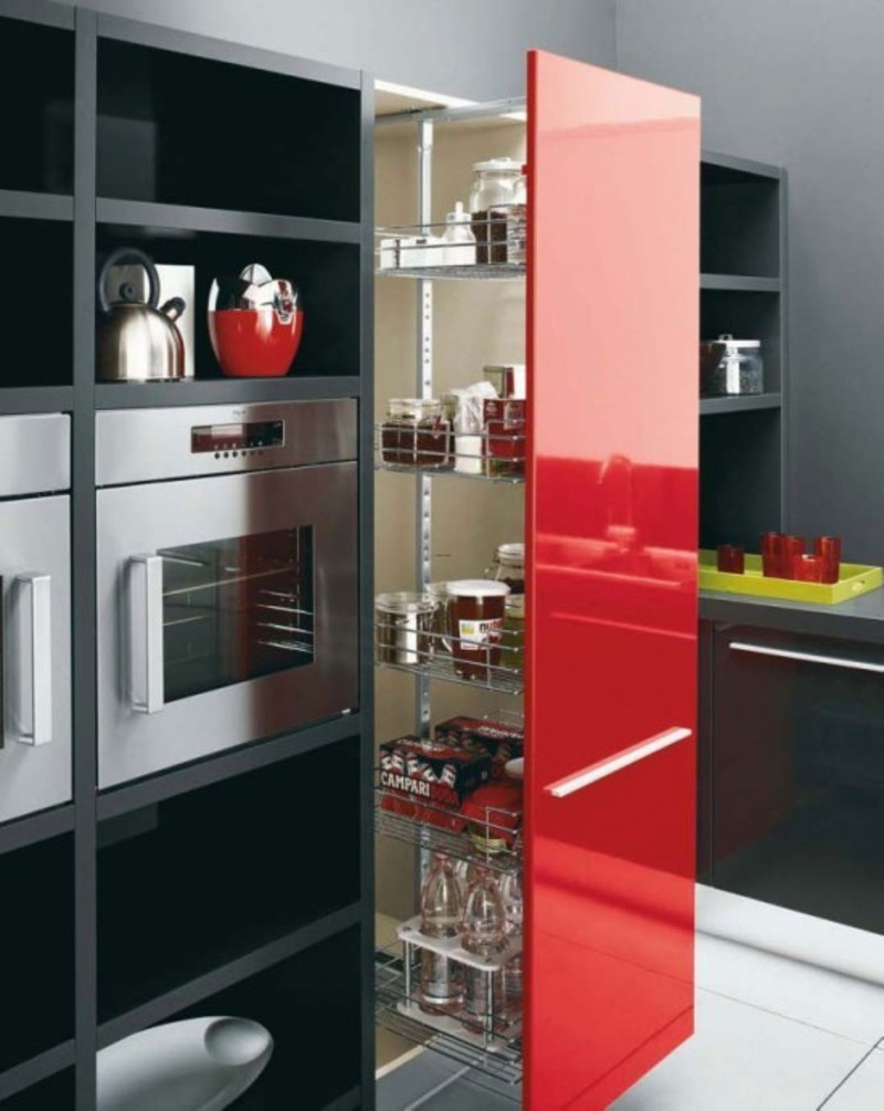 Red Black And White Kitchen Design Gio By Cesar