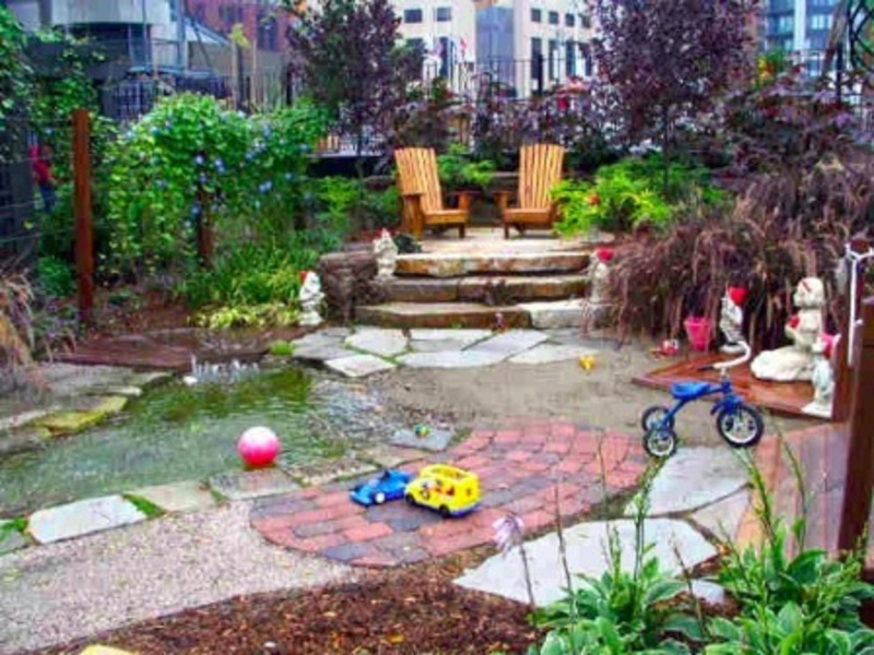 New ideas for your landscaping project in the backyard of for Garden designs for kids