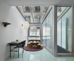 Modern Glass Roof Design White Street Loft In New York