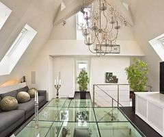 Contemporary Loft Apartment Interior Design With Glass Floor Ideas By Upgrade