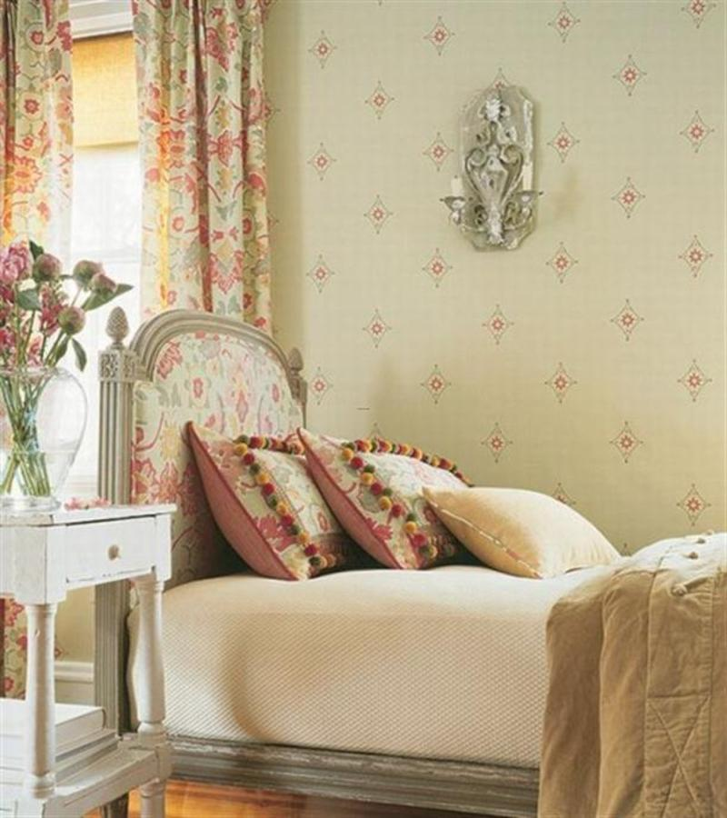 Design interior of modern bedroom country style french on for French bedroom design