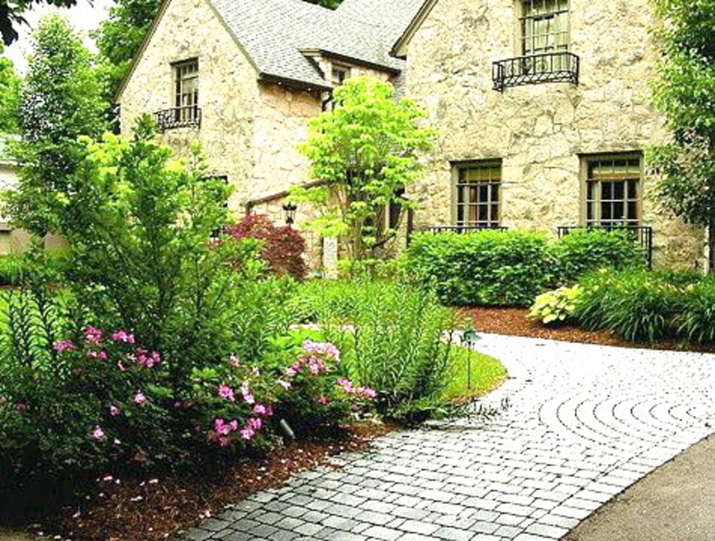 Front yard landscape design ideas design bookmark 11479 for Landscaped back gardens