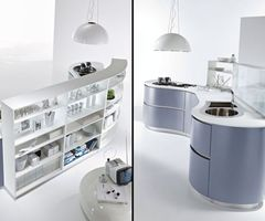 Futuristic And Modern Kitchen Decorating Ideas, Dune Kitchen By Pedini Futuristic Kitchen Island Ideas With Storage   Home Design Inspiration