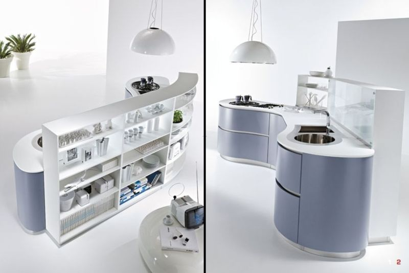 Unique Kitchen Island Ideas, Futuristic And Modern Kitchen Decorating Ideas, Dune Kitchen By Pedini Futuristic Kitchen Island Ideas With Storage  – Home Design Inspiration