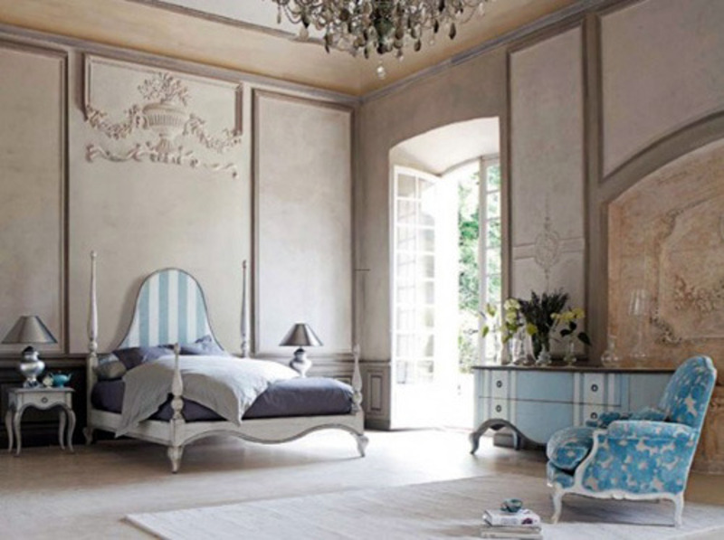 Contemporary classic rustic bedroom decorating ideas for Rustic french bedroom