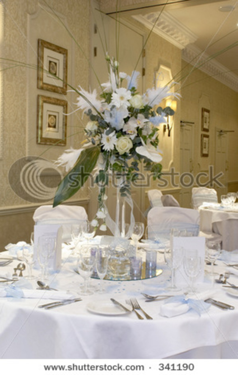 wedding reception table decorations stock photo 341190