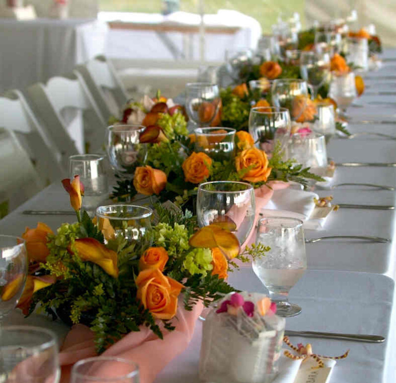 Wedding Flowers Centerpieces Table Decor Hawaii Wedding Wedding Florist Reception Flowers