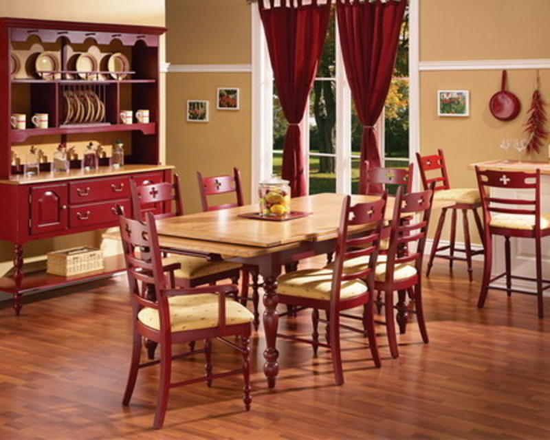 Country dining room sets design for Country kitchen dining room ideas
