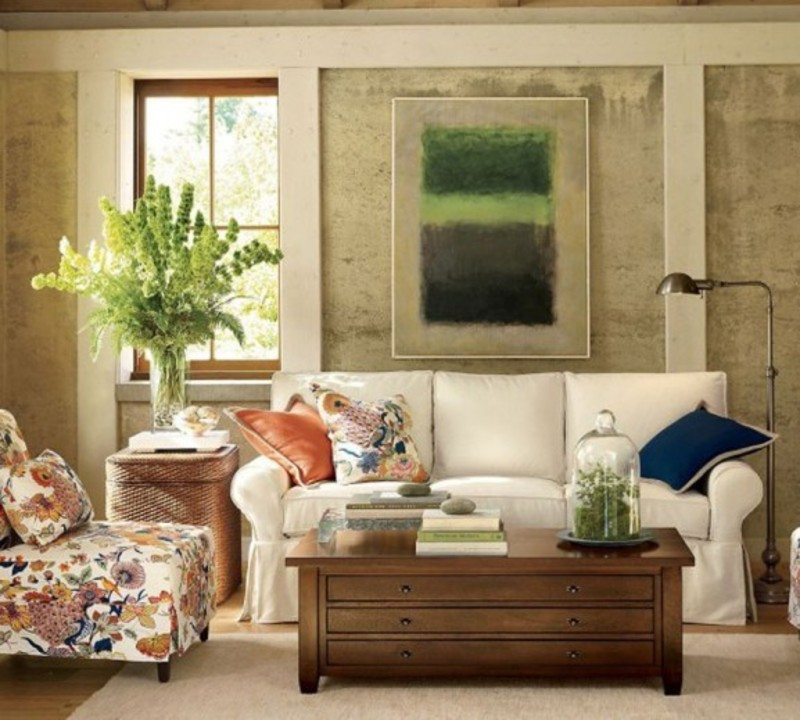 Blend of classic and retro style in vintage living room Old style living room ideas