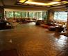 Fallingwater Pictures: Living Room, From Entrance (Frank Lloyd Wright House Above Waterfall)
