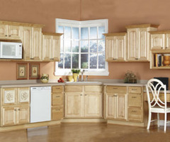 Maple Kitchen Cabinets In Our Franklin Elite Collection, Raised Panels, Natural Maple Finish, All Wood Fine Cabinetry