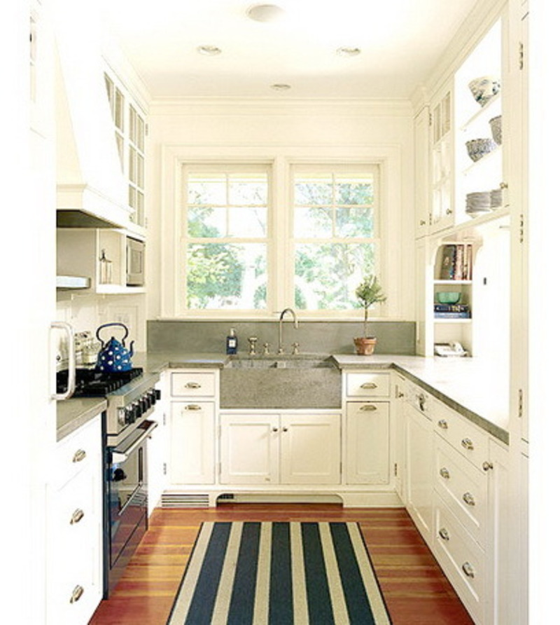 Kitchen design i shape india for small space layout white cabinets pictures images ideas 2015 - Small galley kitchen design ...
