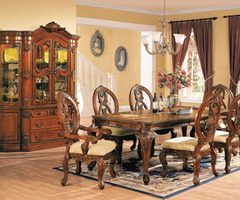 The Furniture / Traditional Dining Room Set With Leg Table, From Versailles Collection By Acme Furniture, Free Shipping