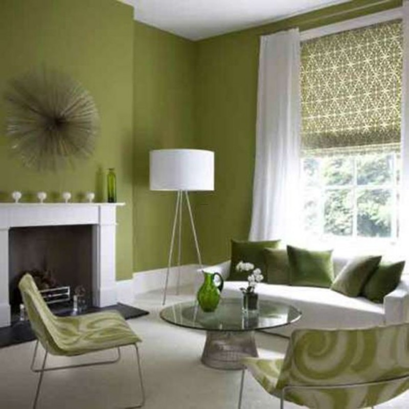 Wall Paint Ideas For Living Room Endearing With Modern Green Living Room Images