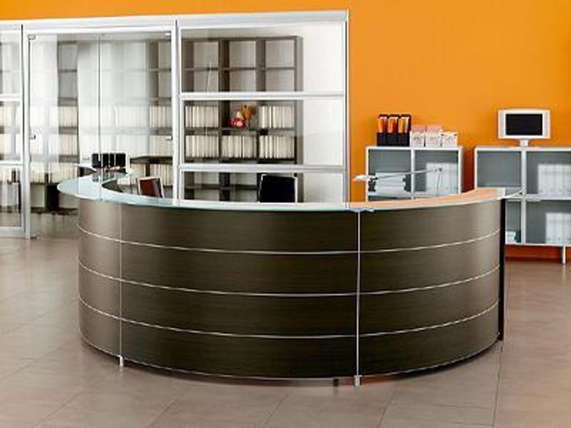 Reception Desk Furniture, Reception Desks. Reception Tables Furniture, Area, Front, Curved, Glass, Wood, Metal For Salon, Hotel, Spa, Hair Salon, Beauty