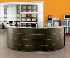Reception Desks. Reception Tables Furniture, Area, Front, Curved, Glass, Wood, Metal For Salon, Hotel, Spa, Hair Salon, Beauty