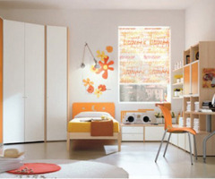Kids Bedroom Fitted Furniture Arrangement